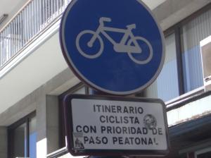 Señal acera bici