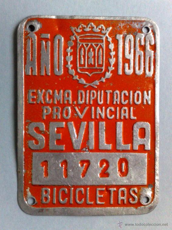 Bicicletas matriculadas (años 60) (1)