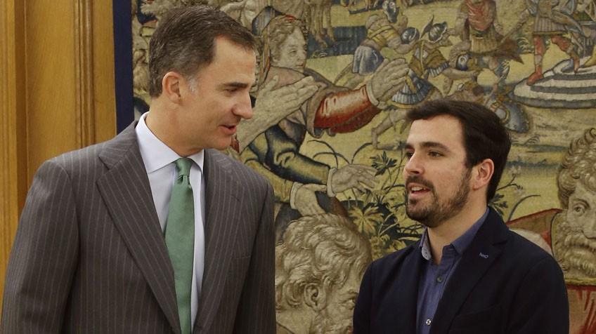 Alberto Garzón con el rey