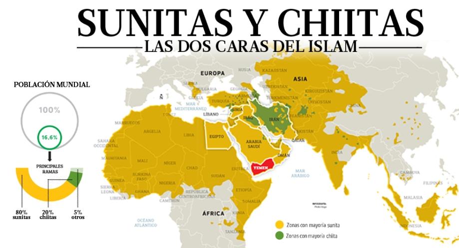 mapa del islam