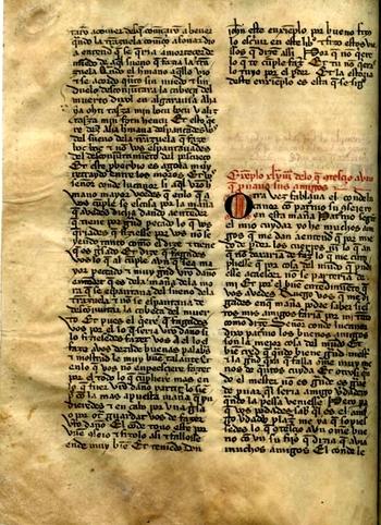 # manuscrito Conde Lucanor
