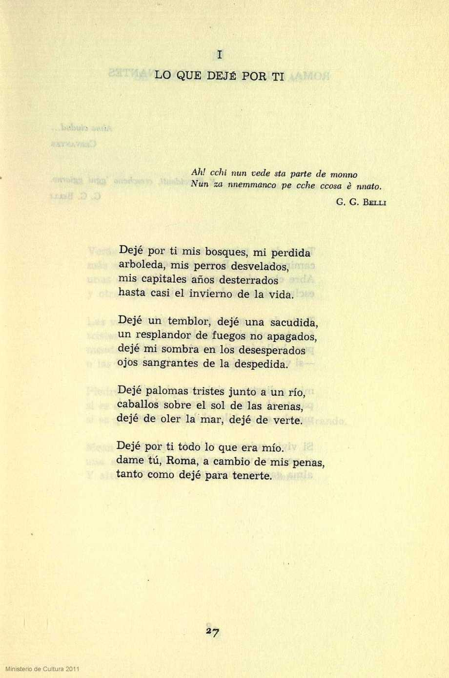 Alberti soneto Lo que dejé por ti