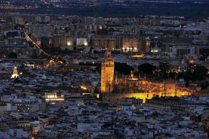SEVILLA. 25.2.16. Sevilla desde la Torre Sevilla, Pelli. FOTO: J.M.SERRANO. archsev