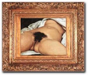 Coño de Courbet enmarcado