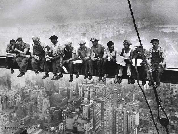 Desayuno en un rascacielos 1932
