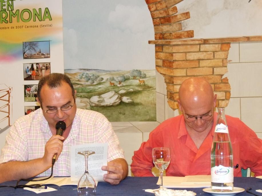 Jose Marrodán y Daniel Lebrato 2007 07 19 carmona el bebedor de cerveza