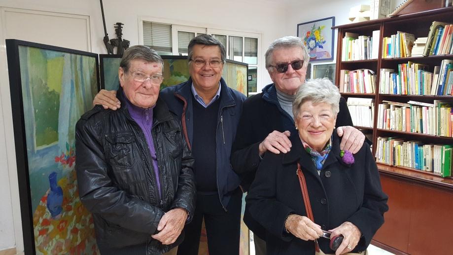 Benito Moreno, Josele, Máximo y Meli, en Librería Padilla.jpg
