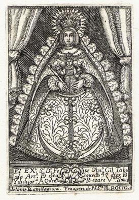 Rocío el grabado más antiguo de la virgen 1720-22