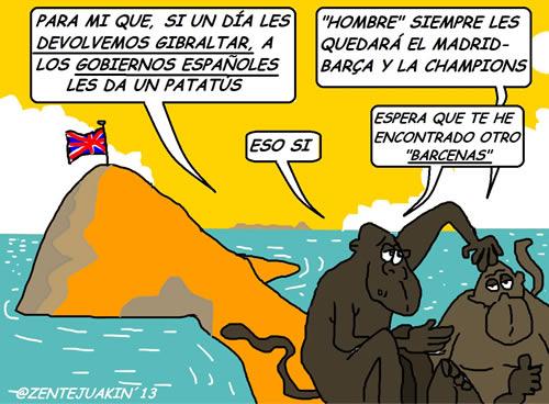 Gibraltar-y-los-monos por Vicente García Nebot