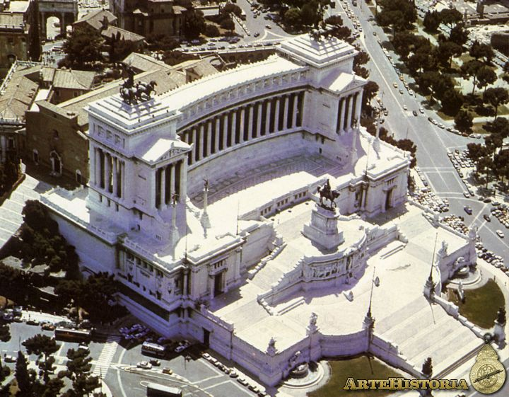 Monumento a Víctor Manuel en Roma