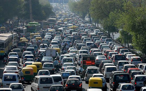 Atasco-tráfico