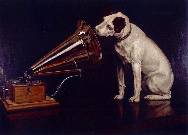 la-voz-de-su-amo-pintura-de-francis-barraud-el-perro-nipper-escuchando-el-gramofono