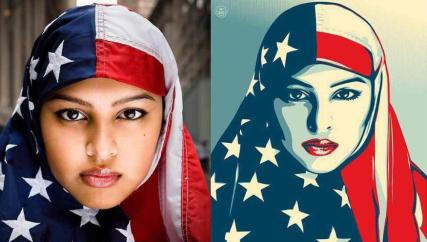 mujer-islamica-con-velo-bandera-de-eeuu