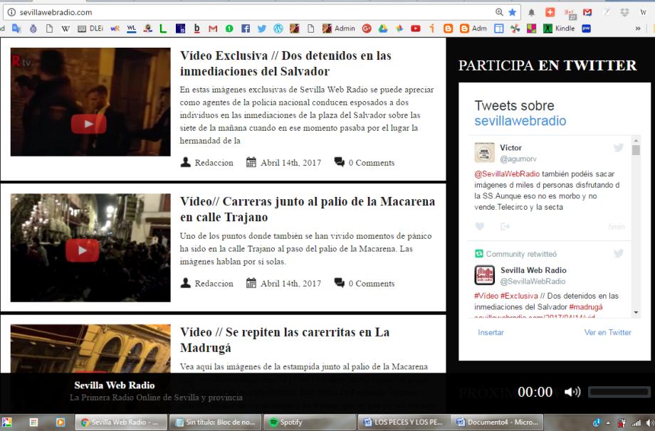 Madrugá 2017 en SevillaWebRadio