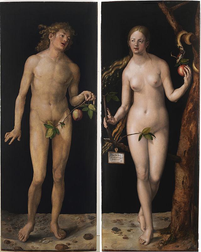 Adán y Eva Alberto Durero Museo del Prado