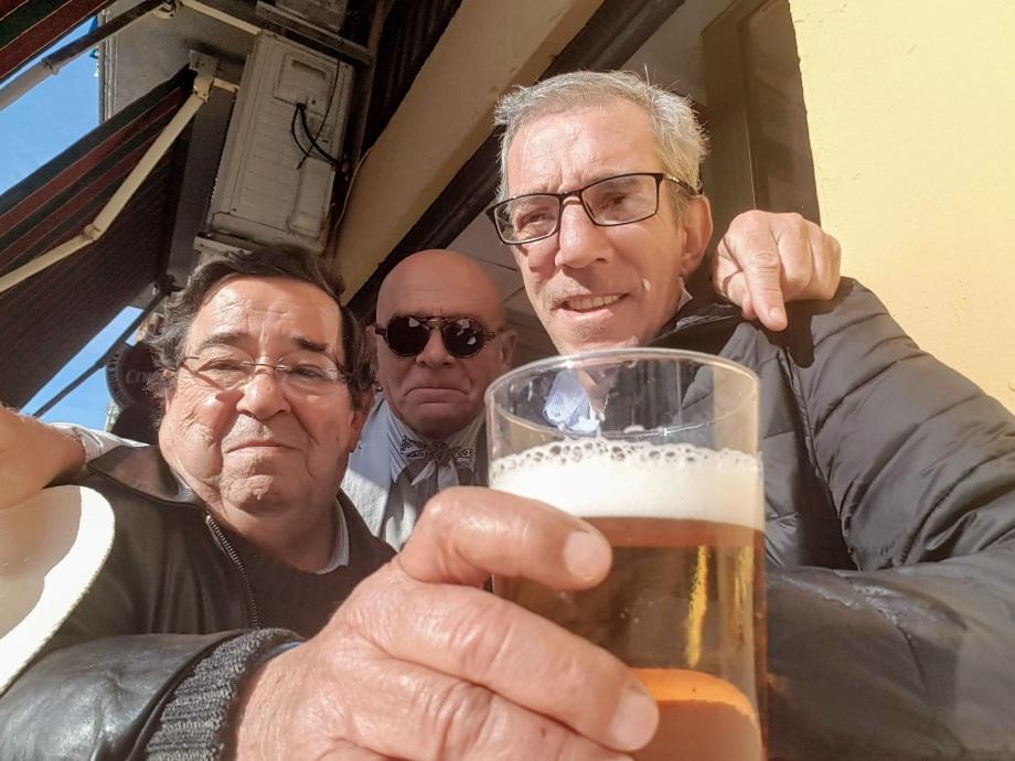 Fernando, Josele Reyero y Daniel Lebrato en el Bar Rodríguez
