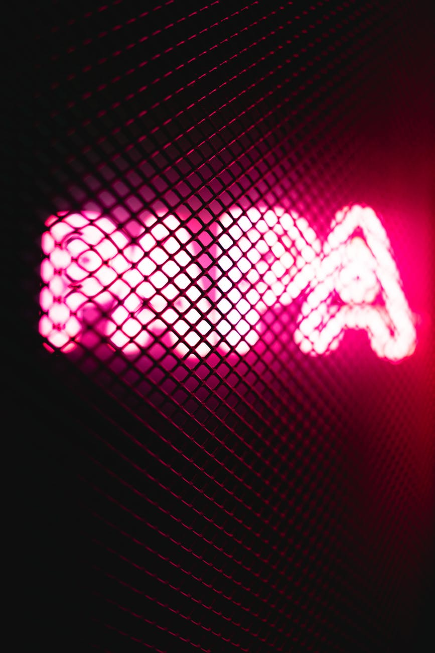 turned on pink papa neon signage