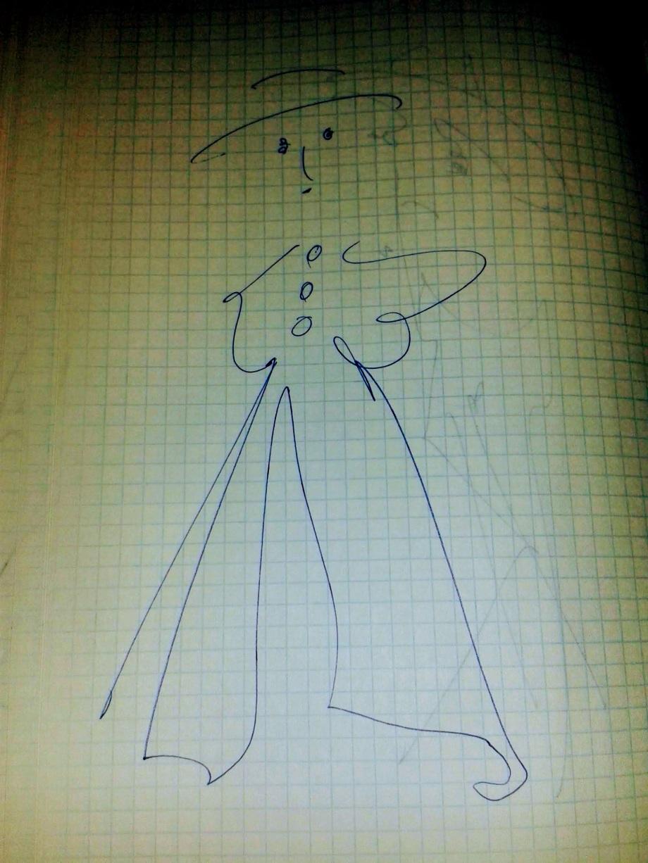 Daniel Lebrato autorretrato dibujado 2015 2