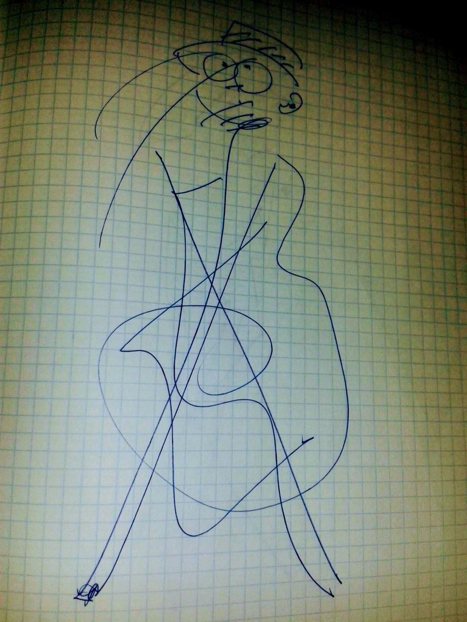 Daniel Lebrato autorretrato dibujado 2015 5