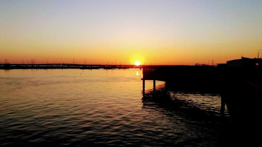 Ría de Huelva ocaso foto Manolo Vara